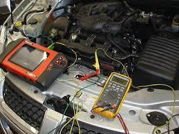 ДИАГНОСТИКА Предварительная компьютерная диагностика начинается и производится в том случае если у автомобиля горит контрольная лампа неисправность двигателя или
