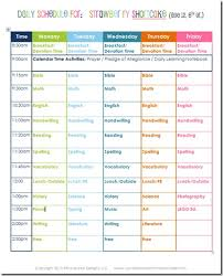 Daily Routine Chart For 5 Year Old 6th Grade Daily Homeschool Schedule Confessions Of A