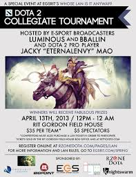 lan event dota101 presents the dota101 collegiate open located