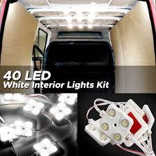 Ford Ka Interior Light Problem Audew 40 Led White Interior Lights Kit 12v Led Ceiling Lights Kit For Lwb Van Trailer Lorries Sprinter Ducato Transit Boats Vw
