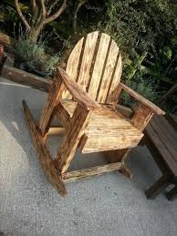 using pallets for furniture. Glorious Rocking Chair Which Is Created Using Unique And Creative Concept Of Pallet Funiture That Painted Pallets For Furniture
