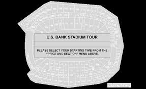 Us Bank Seating Chart Tickets U S Bank Stadium Tour Minneapolis Mn At