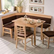 ... Dining Tables, Astounding Light Brown Rectangle Rustic Wooden Corner  Dining Room Table Stained Ideas: ...