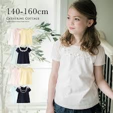 Tシャツ おしゃれなネックレスモチーフ 女の子 半袖 140 150 160 Cm ジュニア 中学生 夏 白 ピンク ブルーネイビー