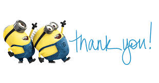 Image result for minion thank you