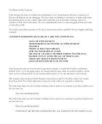 mortgage modification hardship letter mortgage modification hardship letter template for loan