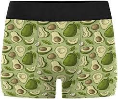 INTERESTPRINT Men's Avocado Pattern Boxer Briefs ... - Amazon.com
