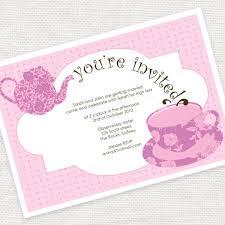 tea party templates kitchen tea party invitation templates bridal tea invitations