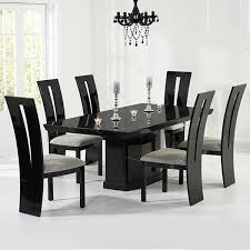 black marble dining table with 6 chairs kamila