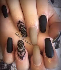 charismatic black nail art design ideas