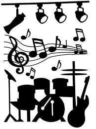 Wand Sticker Muziek Instrumenten Bestellen Voor 1350 Bij Het