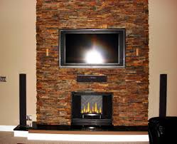Contemporary Stacked Stone Fireplace Ideas