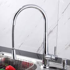 Designed Pullout High Arc Copper Kitchen Faucet Sale