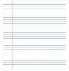 12 Lined Paper Templates Pdf Doc Aktin