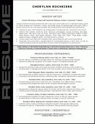 Makeup Artist Resume Templates Professional Summary Job And Template