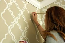 wallpaper edges with pait brush