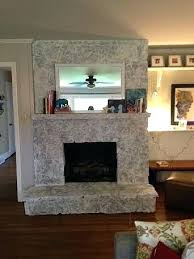 rock fireplace surround painting a stone fireplace by paper fox diy river rock fireplace surround