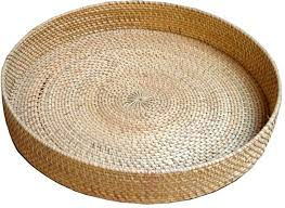home indonesia baskets rattan large round tray