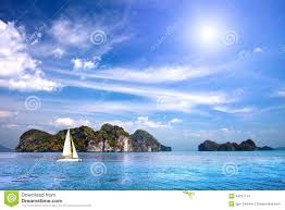 Tropical Island Yacht Scenic Tropical Island In The Indian Ocean Stock Images Image
