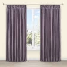 Villula Wisteria Plain Faux Silk Pencil Pleat Lined Curtains W