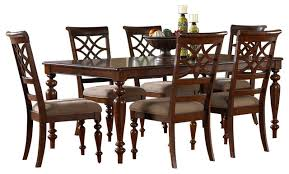 dining room chairs cherry. standard furniture woodmont 7-piece leg dining room set in cherry traditional-dining- chairs d