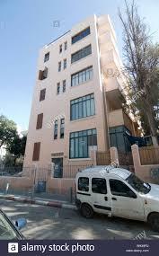 Israel, Tel Aviv, Renovated Bauhaus building at 28 Balfour Street ...