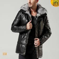 mens sheepskin leather fur jacket cw848366 jackets cwmalls com