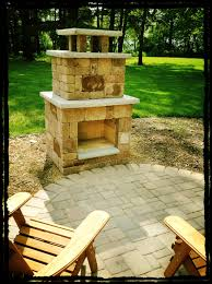 RCP Fireplace kit, in santa fe color with no hearth or woodbox. Lamont  pavers