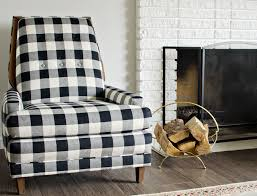 image of black white buffalo check chairs the vintage rug the inside black and