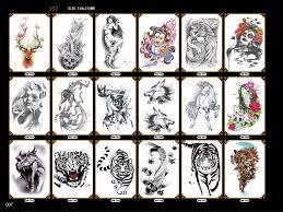 Kompletní černá Halloween Tetování Pro Unisex ženy Muži Tygr Had Had