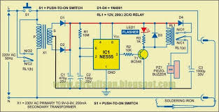 automatic ering iron switch wiring diagram schematic diy at the heart of the schema is a monostable multivibrator built around timer ic 555 when the schema is in sleep mode to switch on the ering iron