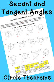 Secant and Tangent Angles (Circle Theorems)- Puzzle Worksheet ...