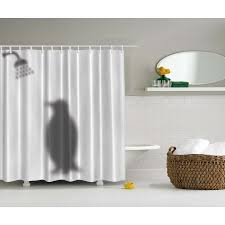 funny shower curtain. Ambesonne Animal Decor Penguin Shadow Fun Funny Shower Curtain Fabric With Hooks