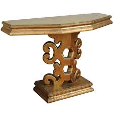 gold console table. Gold Leaf Console Table In The Manner Of James Mont For Sale