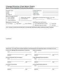 Free Work Order Form