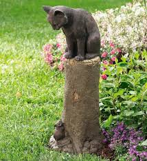 cat garden statue. Garden Ornaments Provide An Aesthetic Appearance In The Black Cat Statue G