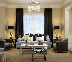 excellent living room design 2016 beige wall color black curtains black leg light blue couch brown