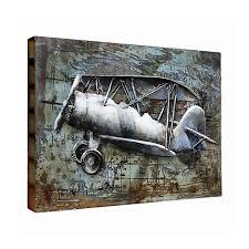 3d metal airplane wall art
