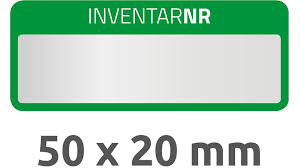 Inventory Labels 10 Sheets 50 Labels 50 X 20 Mm Silver Green