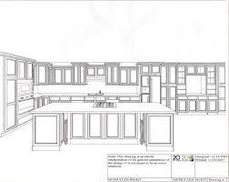 Jodie O Designs Kitchen Elevation Perspective Interior Sketch Kitchen