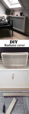 This DIY radiator cover is easy and cheap to make. It's the perfect cover  for