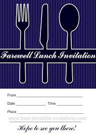 Farewell Invites For Colleagues Farewell Lunch Invitation