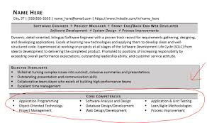 Resume Core Competencies Fabulous Project Manager Core Competencies