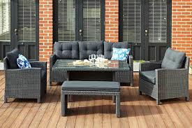 rhodes wicker outdoor range 3 1 1 dining table bench seat