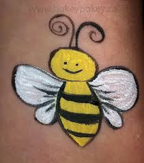 cheek art face painting gallery face painting bee