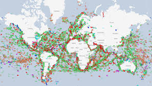 Map Visualizing Every Ship At Sea In Real Time