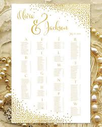 Wedding Seat Chart Poster