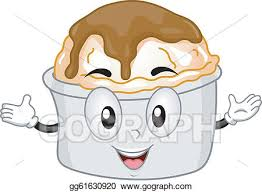 mashed potatoes and gravy clipart. Mashed Potato Mascot And Potatoes Gravy Clipart