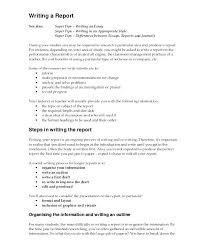 Example Essay Report Example For Report Writing And Essay