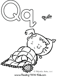 coloring page letters q is for quilt my colouring pages capital letters